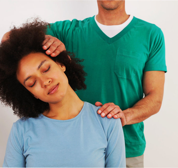 woman availing a chiropractic service